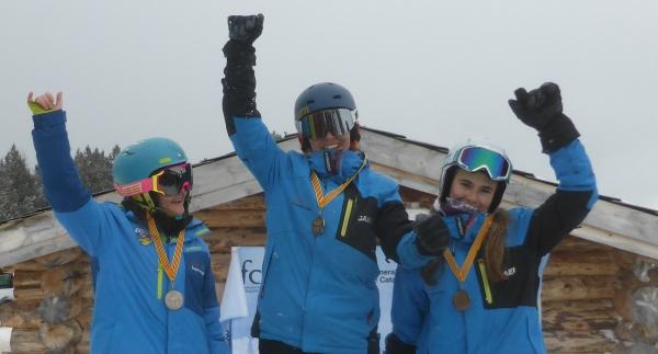 Siete pódiums para los snowboarders del CAEI en el Cto.de Catalunya