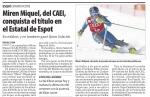 Miren Miquel, del CAEI, conquista el título en el Estatal de Espot