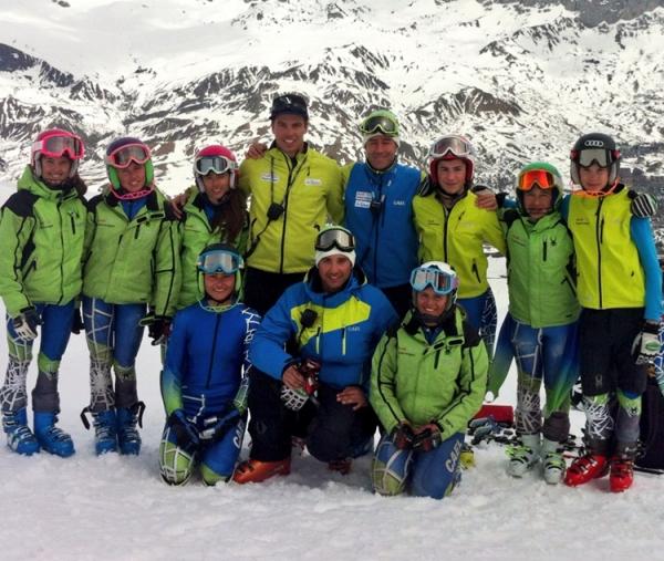 El equipo U14 en Formigal
