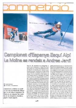 Campionat d'Espanya Esquí Alpí. La Molina es rendeix a Andrea Jardí