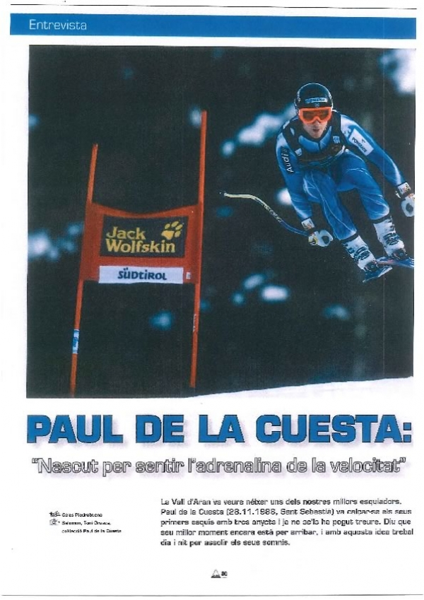 """Paul de la Cuesta: """"Nascut per sentir l'adrenalina de la velocitat"""""""
