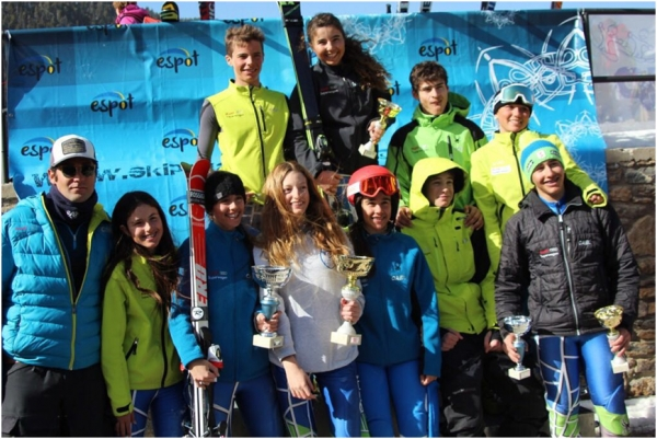 Muy buenos resultados del equipo de U16 del CAEI en el VI Trofeo Espot Esquí