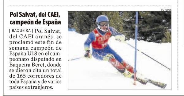 Pol Salvat, del CAEI, campeón de España