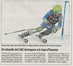 Els infantils del CAEI. destaquen a la copa d'Espanya